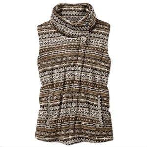 Atheta asymetrical zippered down vest size small